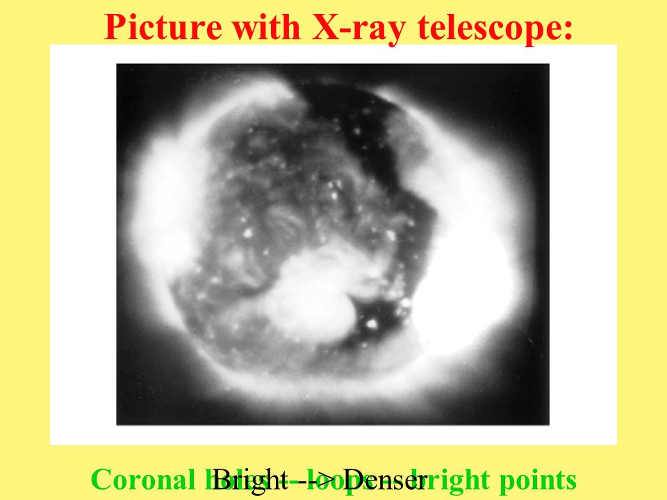 Picture with X-ray telescope: