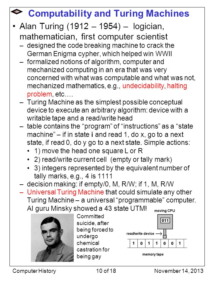 Computability and Turing Machines