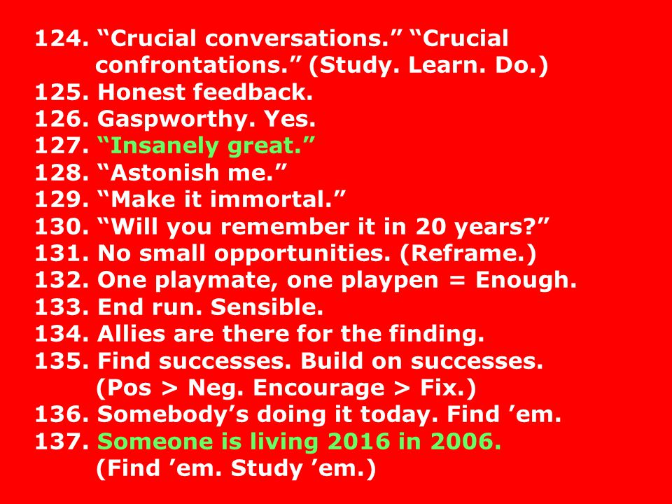 124. Crucial conversations. Crucial