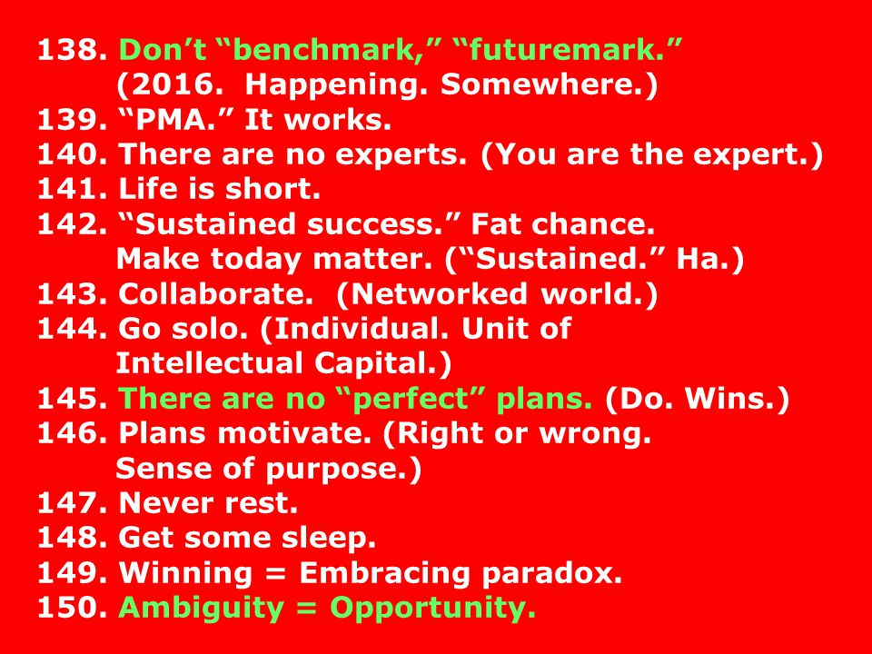 138. Don't benchmark, futuremark.