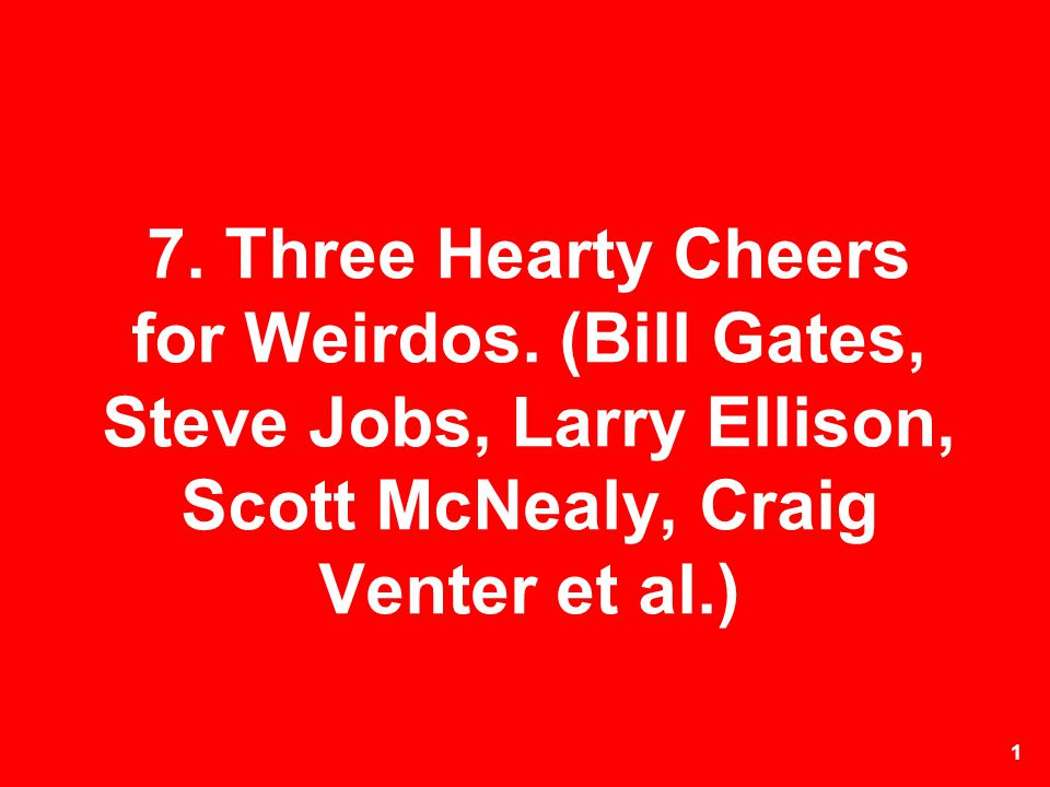 7. Three Hearty Cheers for Weirdos
