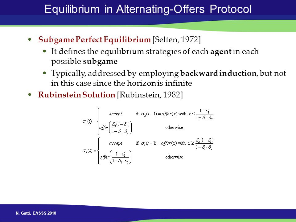 Equilibrium in Alternating-Offers Protocol