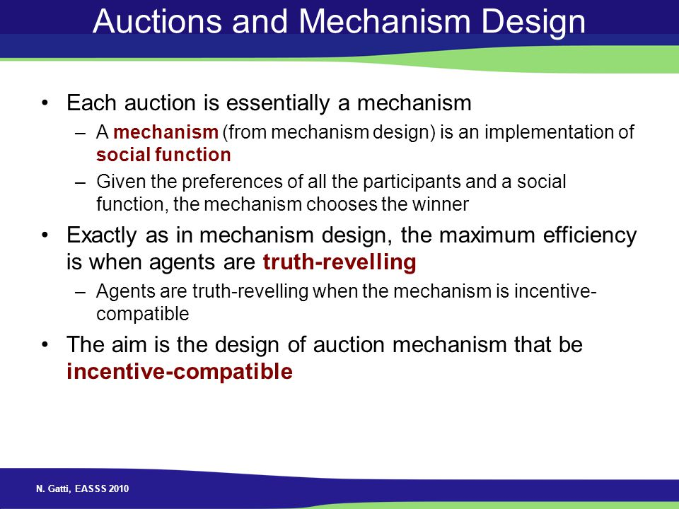 Auctions and Mechanism Design