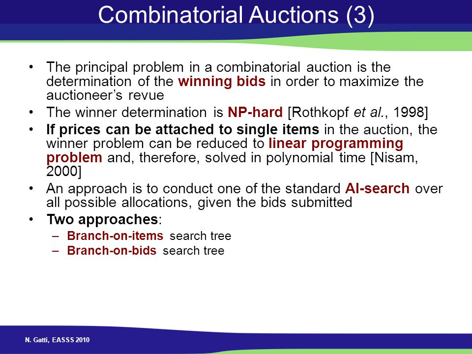 Combinatorial Auctions (3)