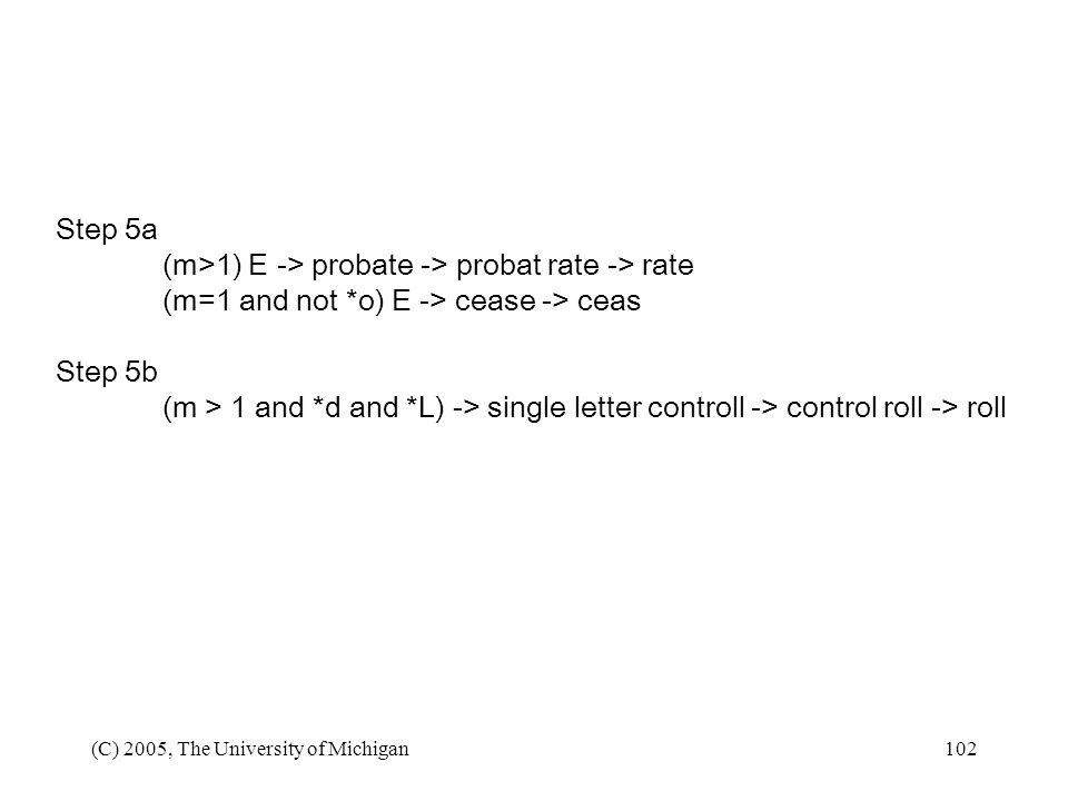 (m>1) E -> probate -> probat rate -> rate