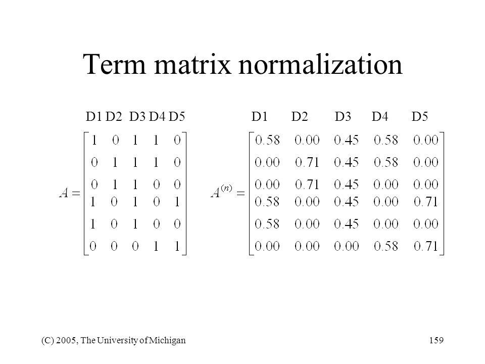 Term matrix normalization