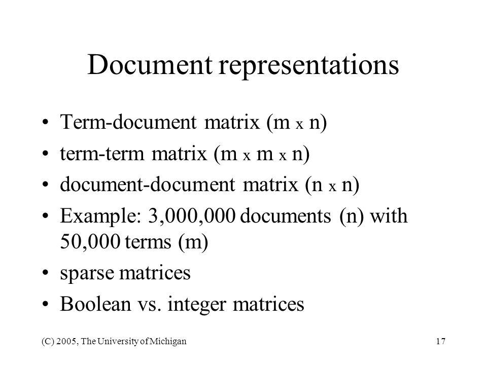 Document representations