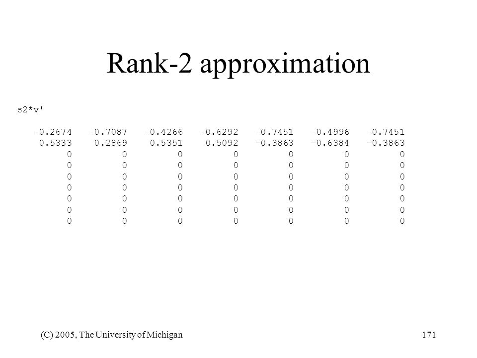 Rank-2 approximation s2*v