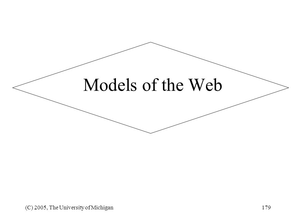 Models of the Web (C) 2005, The University of Michigan