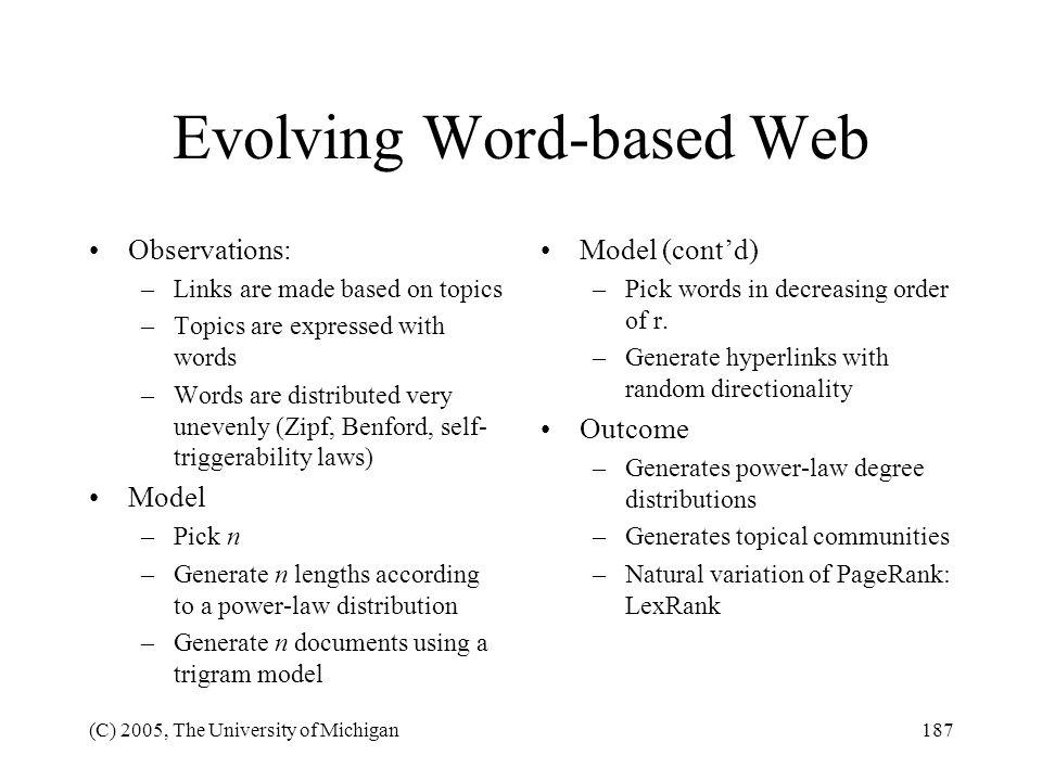 Evolving Word-based Web