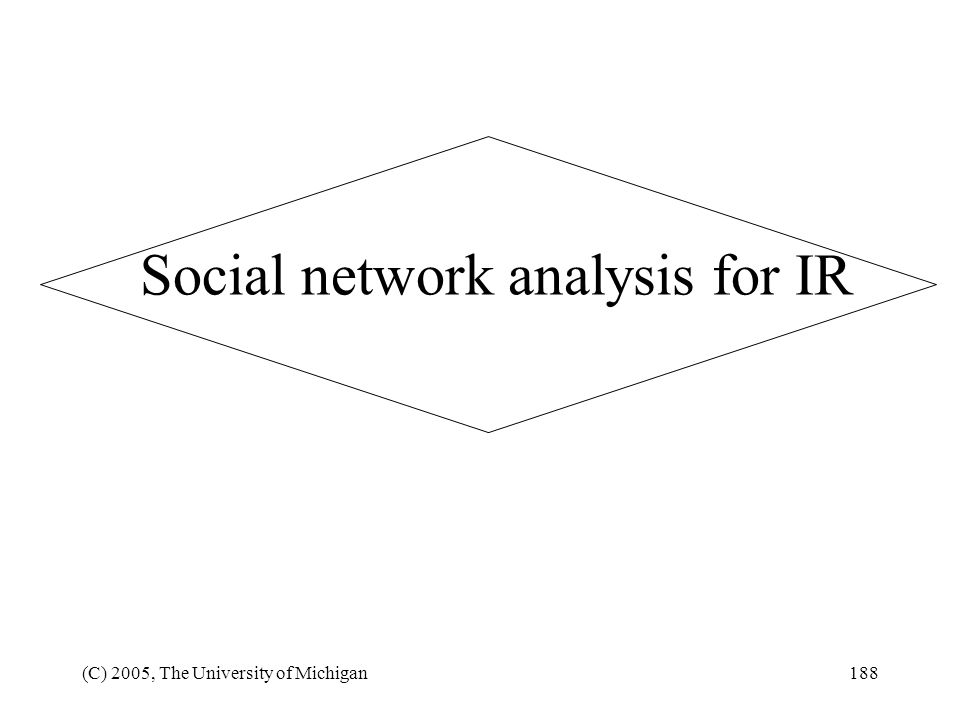 Social network analysis for IR