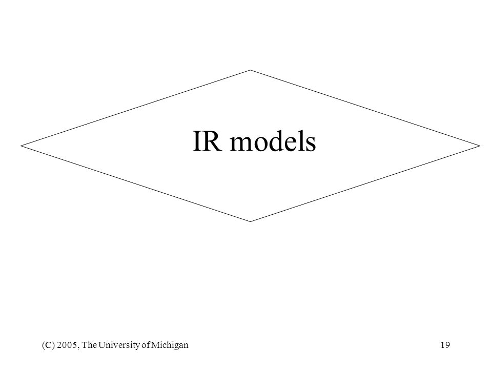 IR models (C) 2005, The University of Michigan
