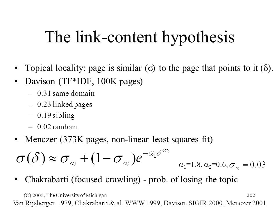 The link-content hypothesis