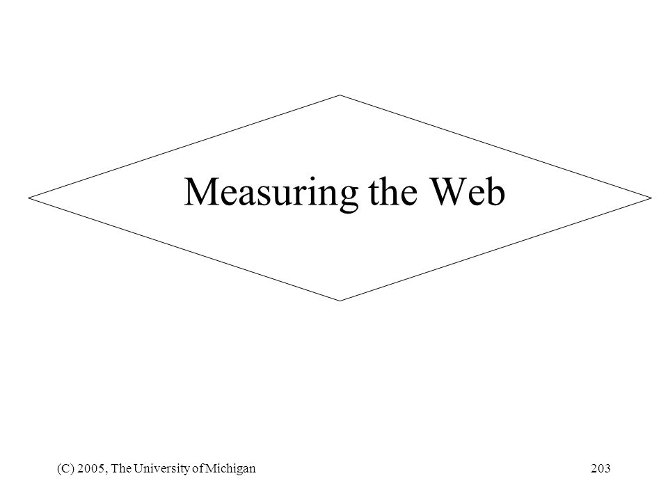Measuring the Web (C) 2005, The University of Michigan