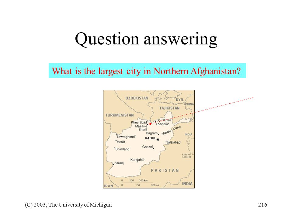 Question answering What is the largest city in Northern Afghanistan