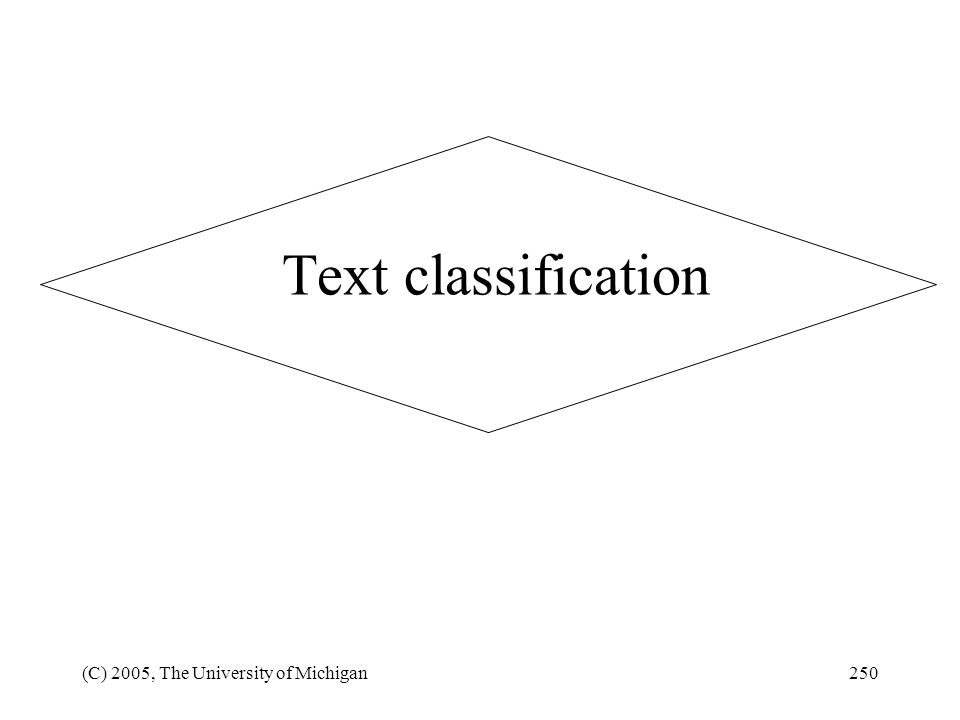 Text classification (C) 2005, The University of Michigan
