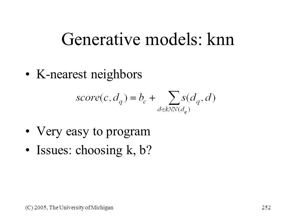 Generative models: knn