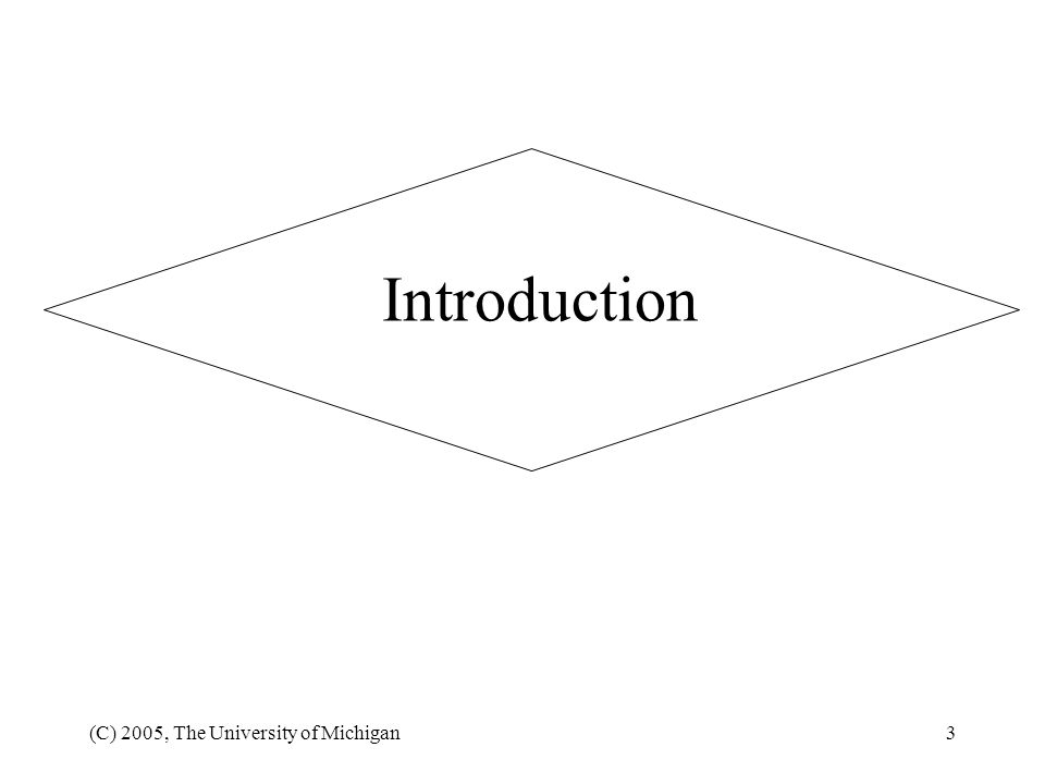 Introduction (C) 2005, The University of Michigan