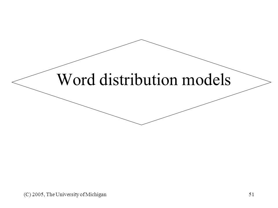 Word distribution models