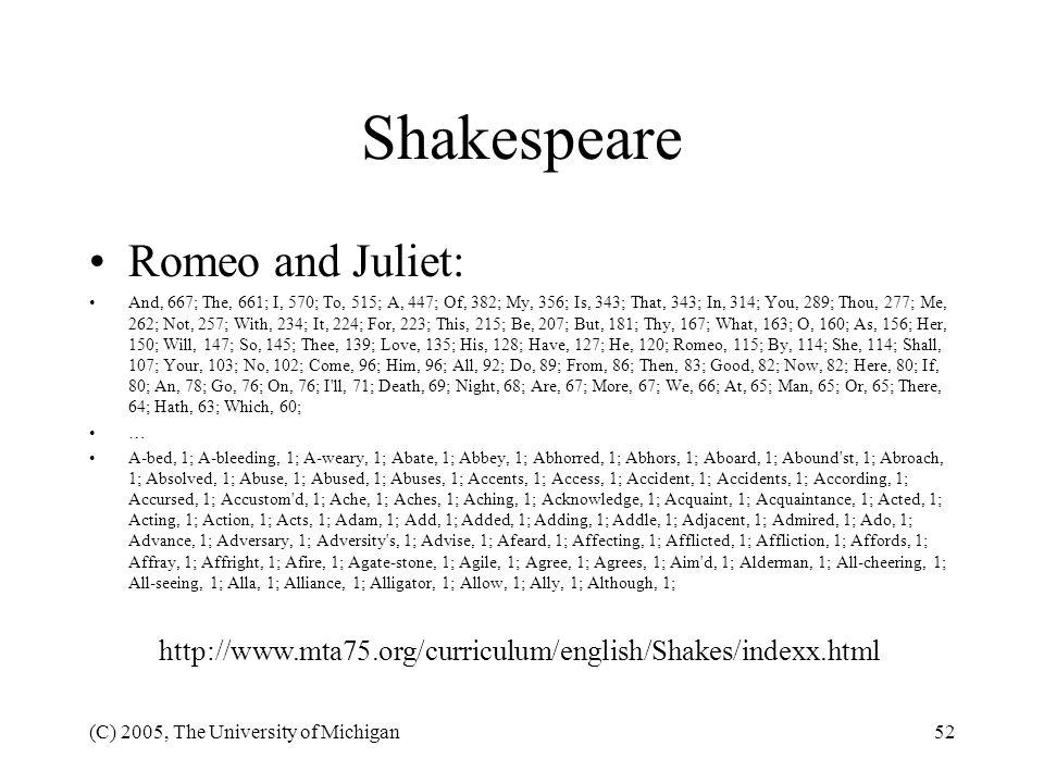 Shakespeare Romeo and Juliet: