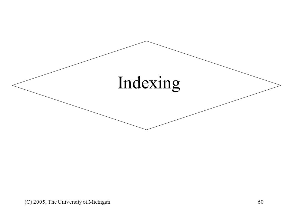 Indexing (C) 2005, The University of Michigan