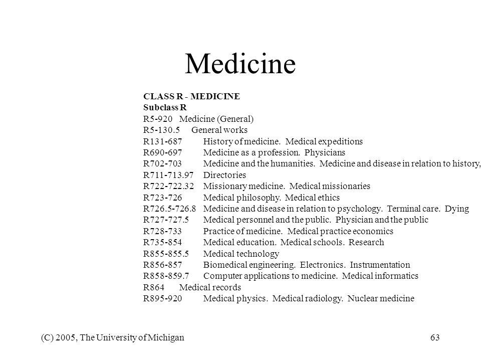 Medicine CLASS R - MEDICINE Subclass R R5-920 Medicine (General)