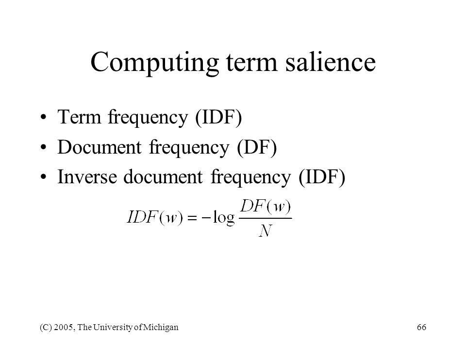 Computing term salience