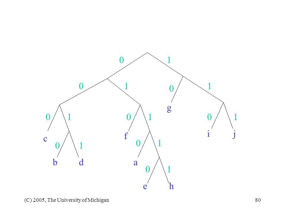 1 1 1 g 1 1 1 i j f c 1 1 b d a 1 e h (C) 2005, The University of Michigan