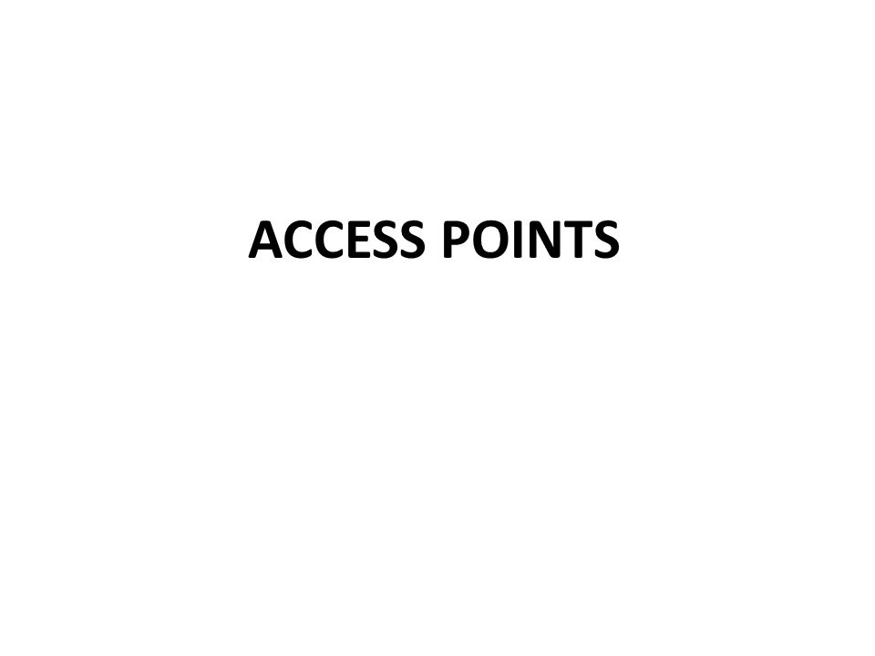4/2/2017 ACCESS POINTS