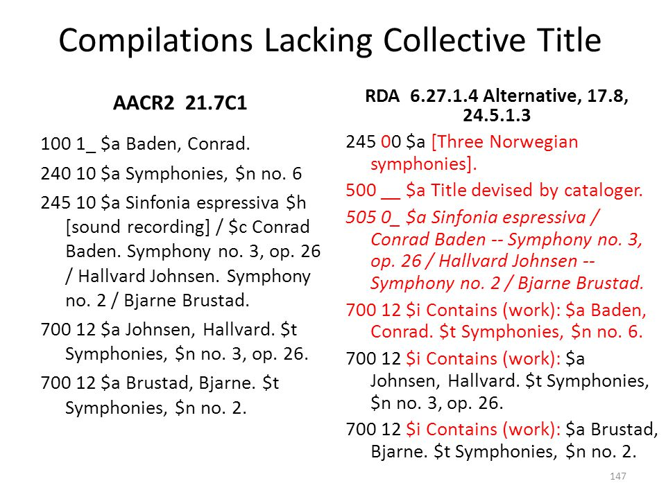 Compilations Lacking Collective Title