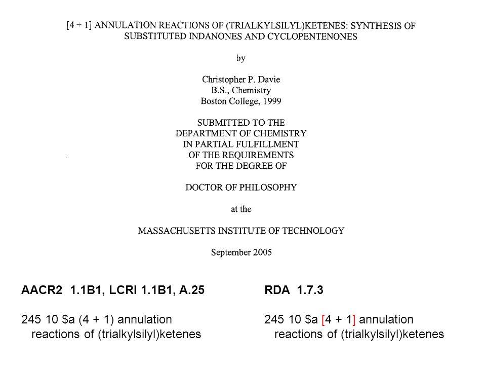 reactions of (trialkylsilyl)ketenes RDA 1.7.3