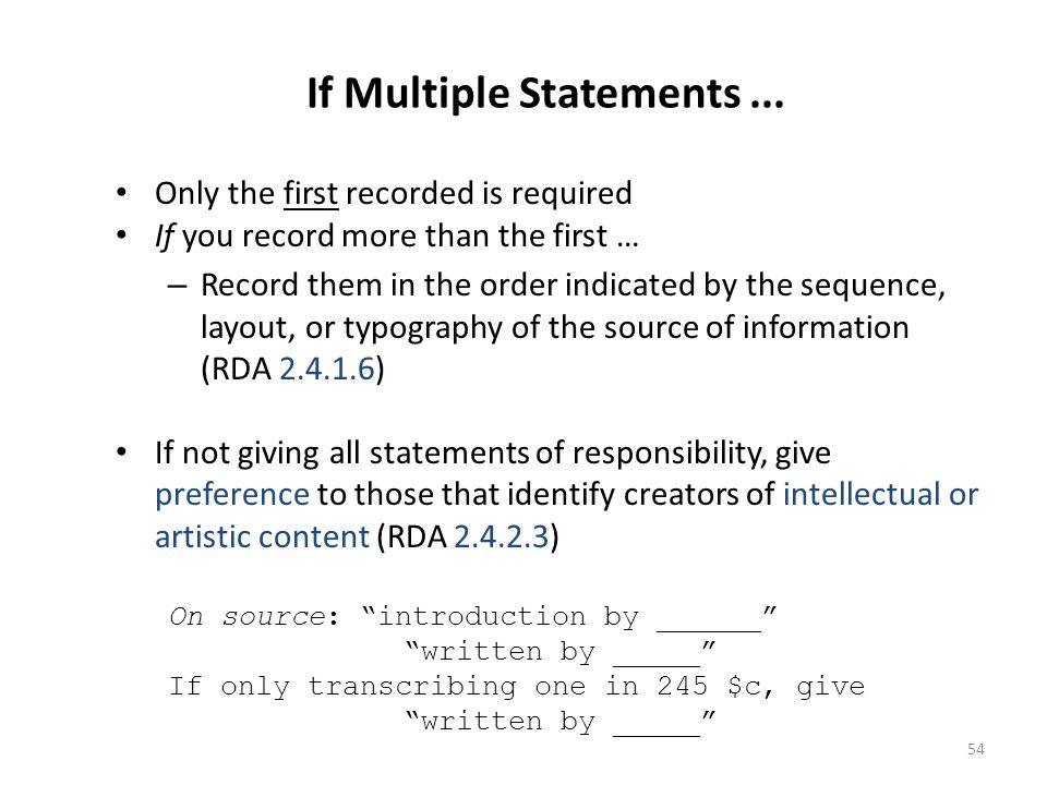 If Multiple Statements ...