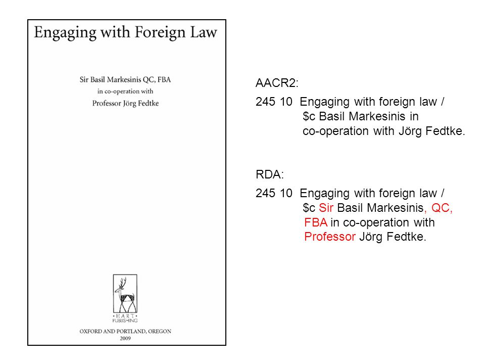 245 10 Engaging with foreign law / $c Basil Markesinis in