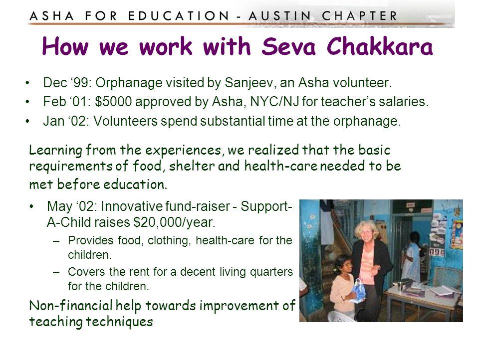 How we work with Seva Chakkara