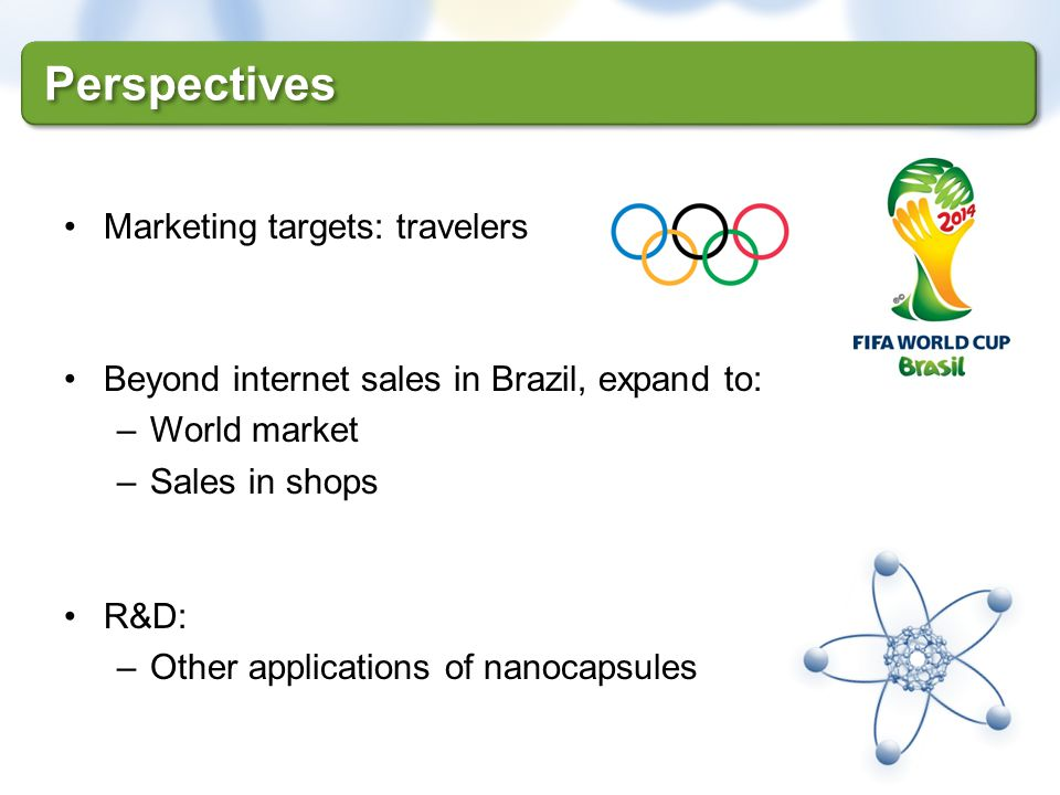 Perspectives Marketing targets: travelers