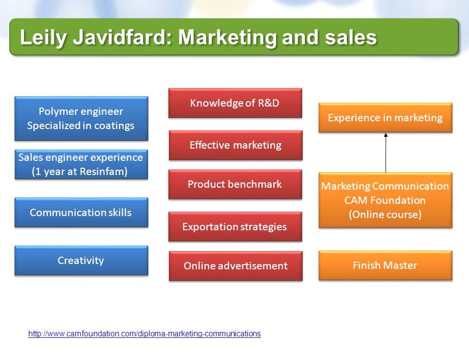 Leily Javidfard: Marketing and sales