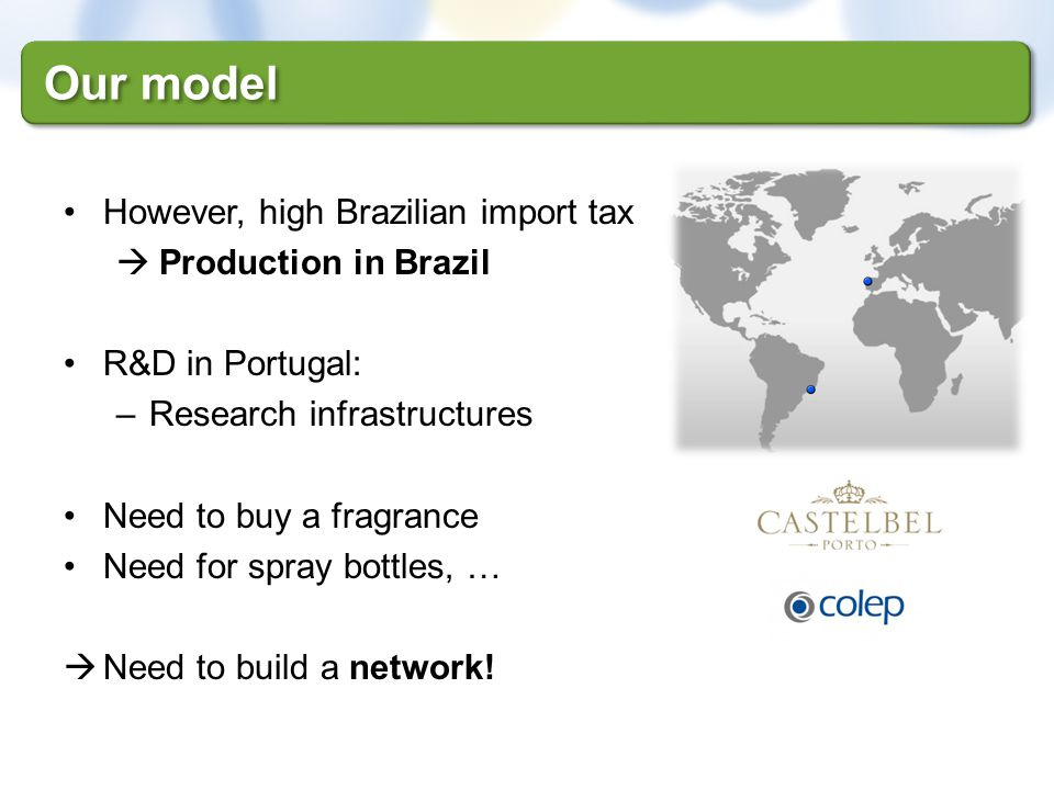 Our model However, high Brazilian import tax Production in Brazil