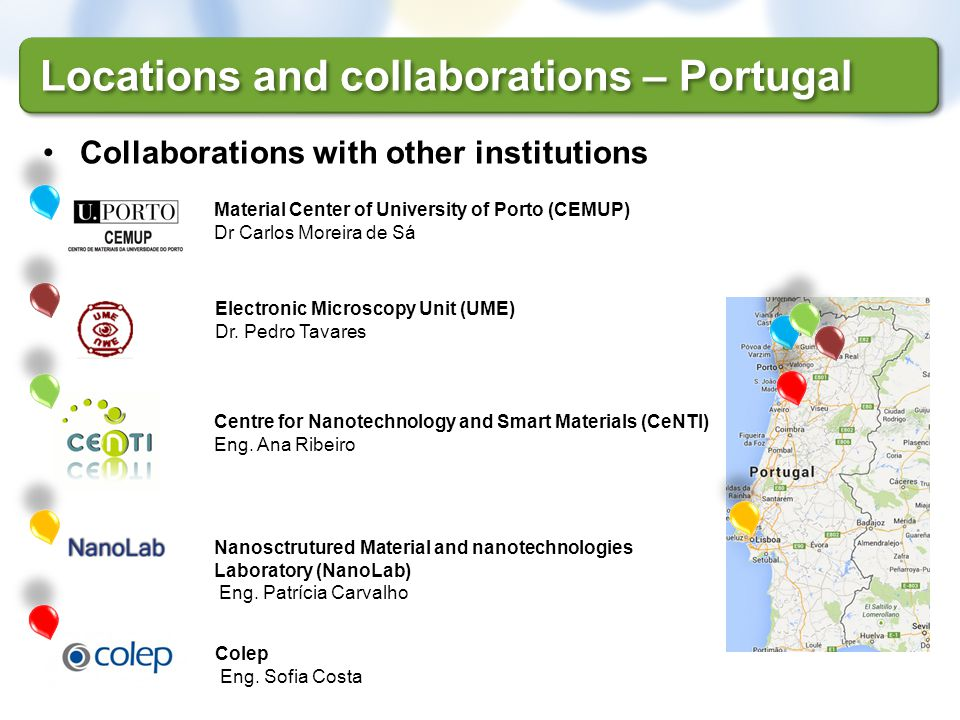 Locations and collaborations – Portugal