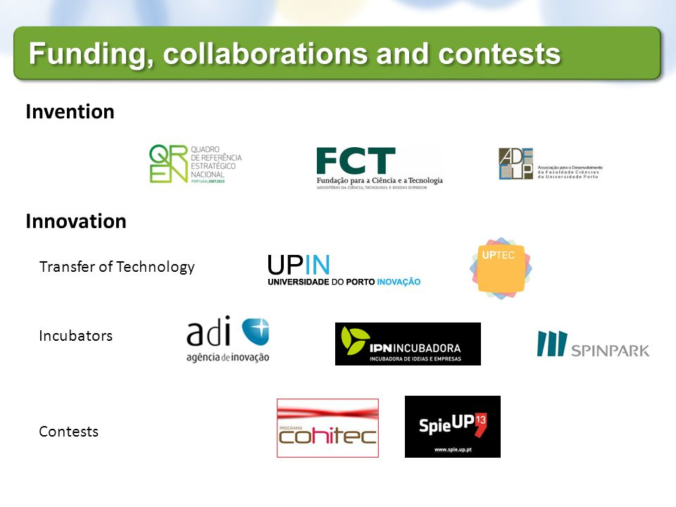 Funding, collaborations and contests