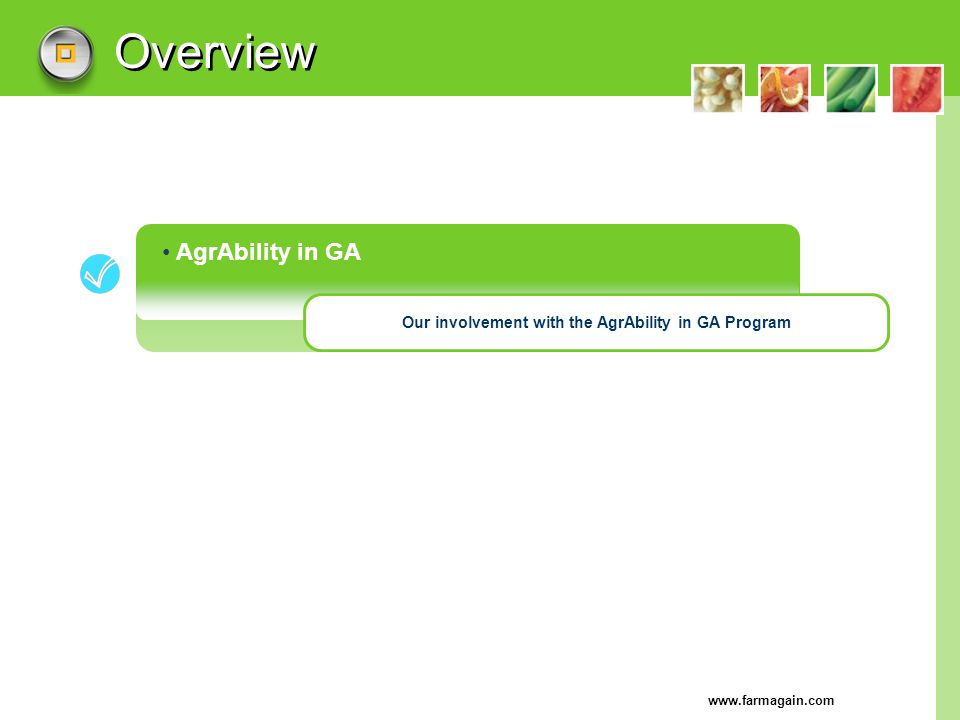 Our involvement with the AgrAbility in GA Program