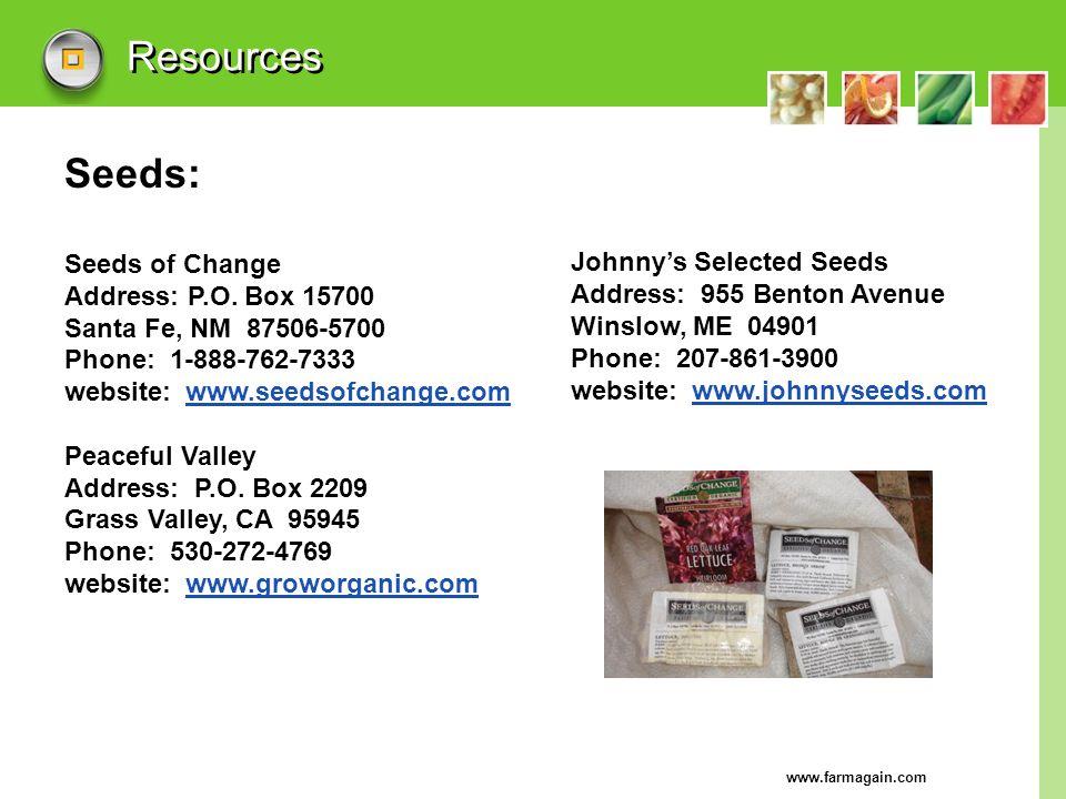Resources Seeds: