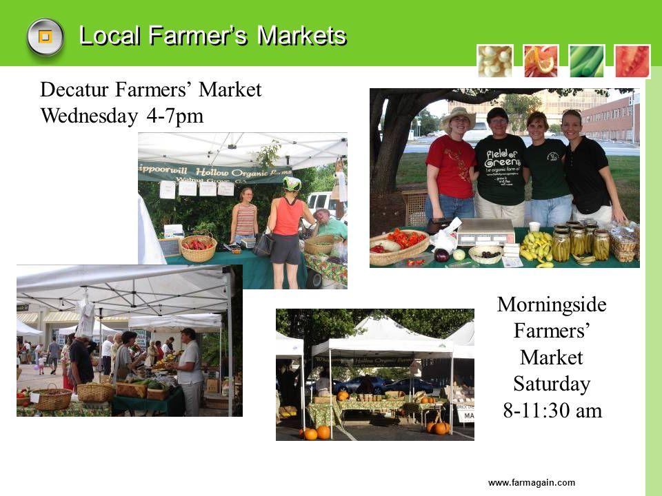 Local Farmer's Markets