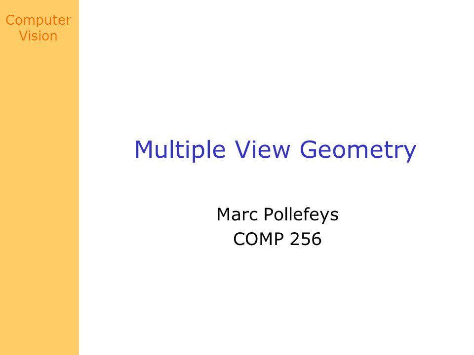 Multiple View Geometry
