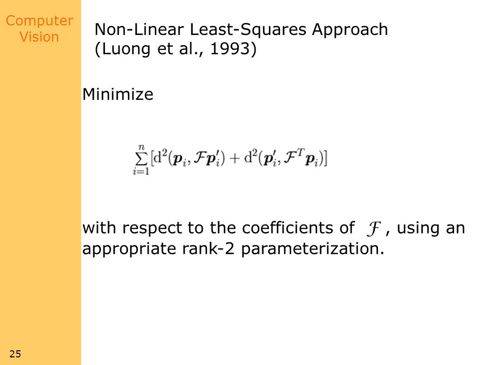 Non-Linear Least-Squares Approach
