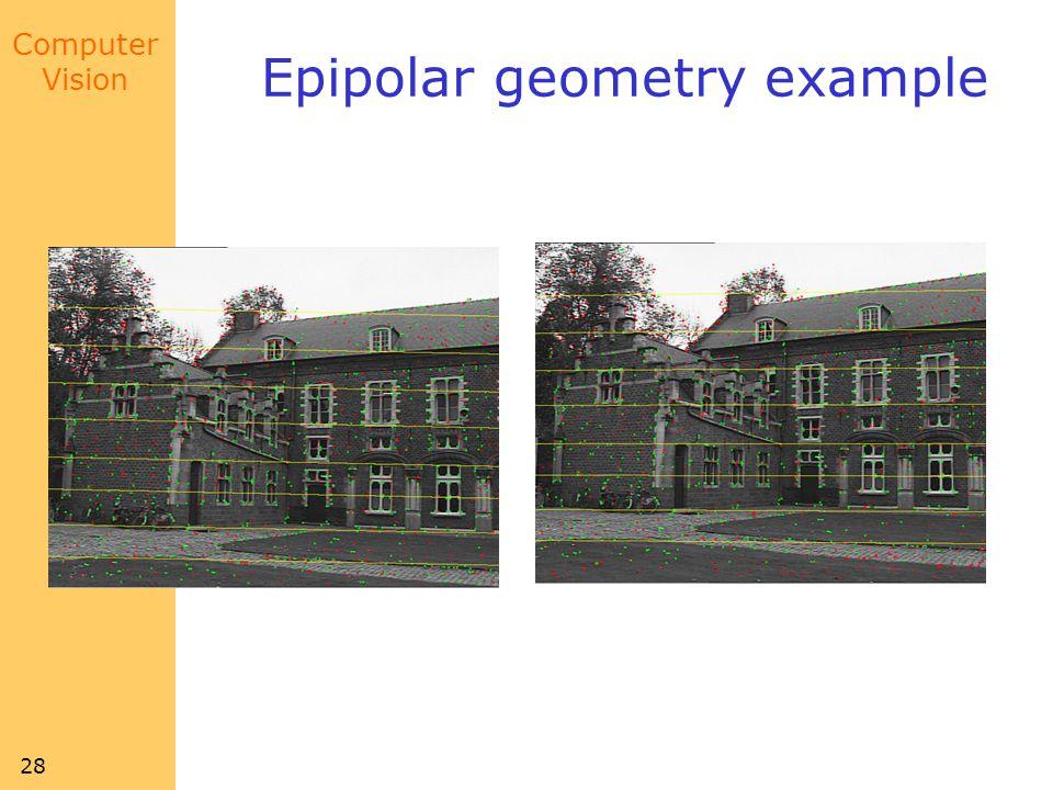 Epipolar geometry example