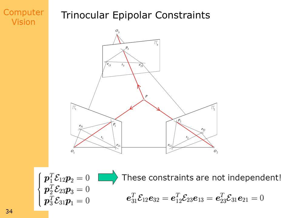 Trinocular Epipolar Constraints