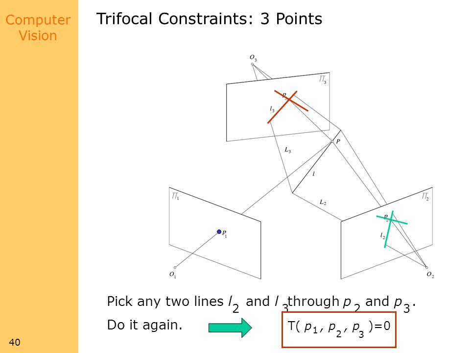 Trifocal Constraints: 3 Points