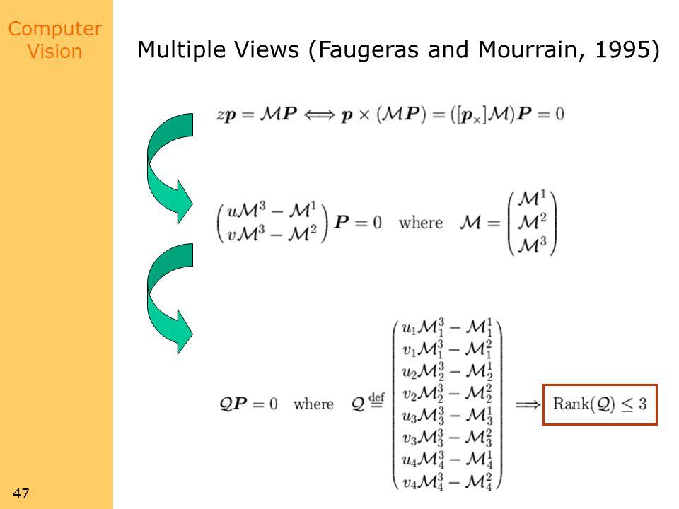 Multiple Views (Faugeras and Mourrain, 1995)