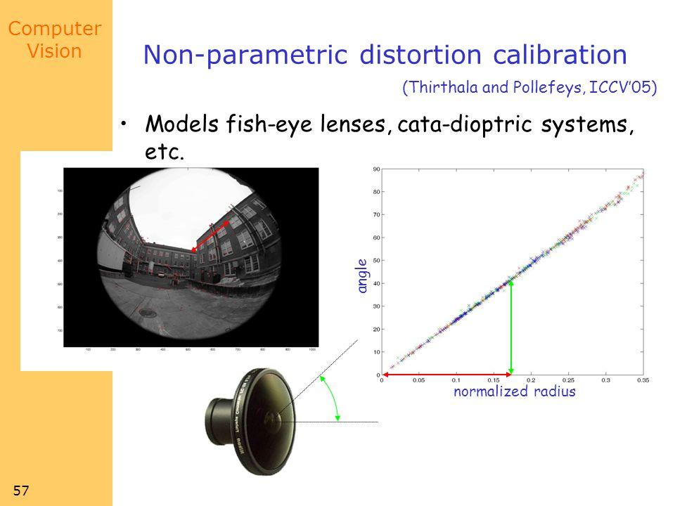 Non-parametric distortion calibration