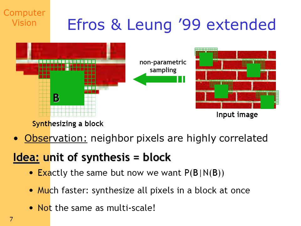 Efros & Leung '99 extended